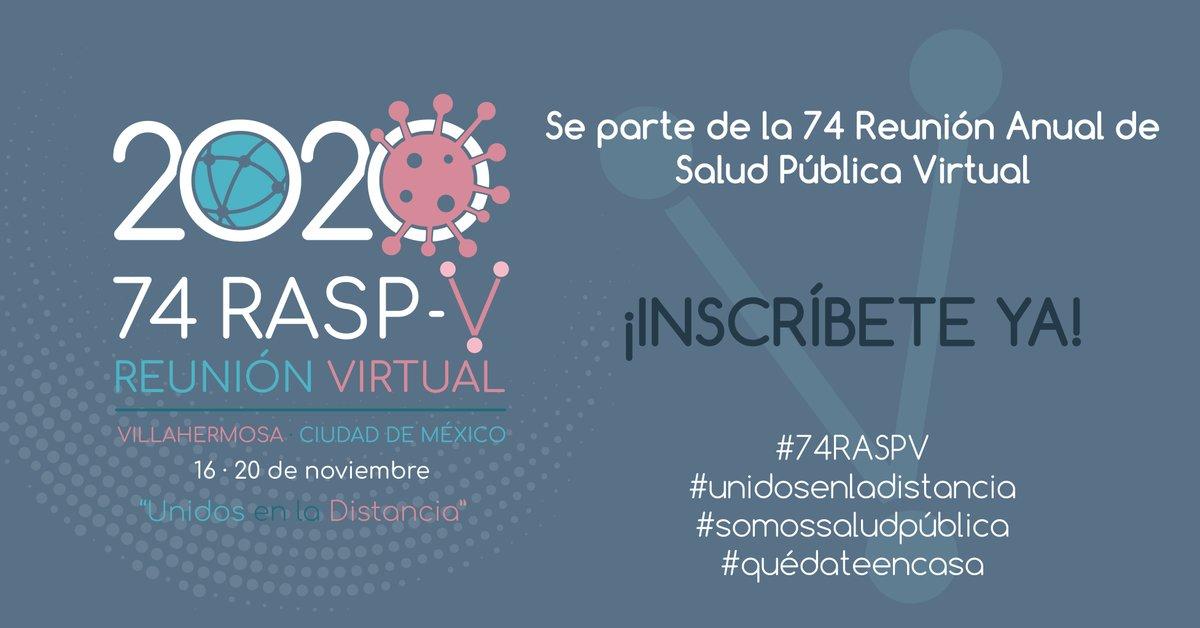 """Sociedad Mexicana de Salud Pública on Twitter: """"Te esperamos en la 74  Reunión Anual de Salud Pública Virtual. Aprovecha las tarifas que traemos  para ti hasta el 30 de septiembre. Realiza tu"""