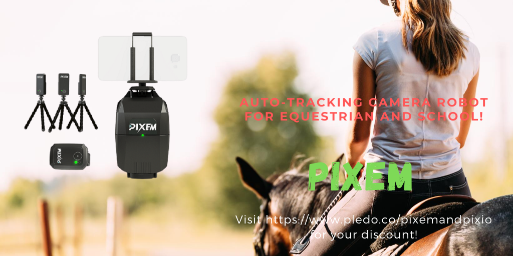 #PIXEM , auto-tracking camera robot for #equestrians and #schools. discount with free shipping. #edtech #education. https://www.pledo.co/pixempic.twitter.com/NHTIQrfkaJ