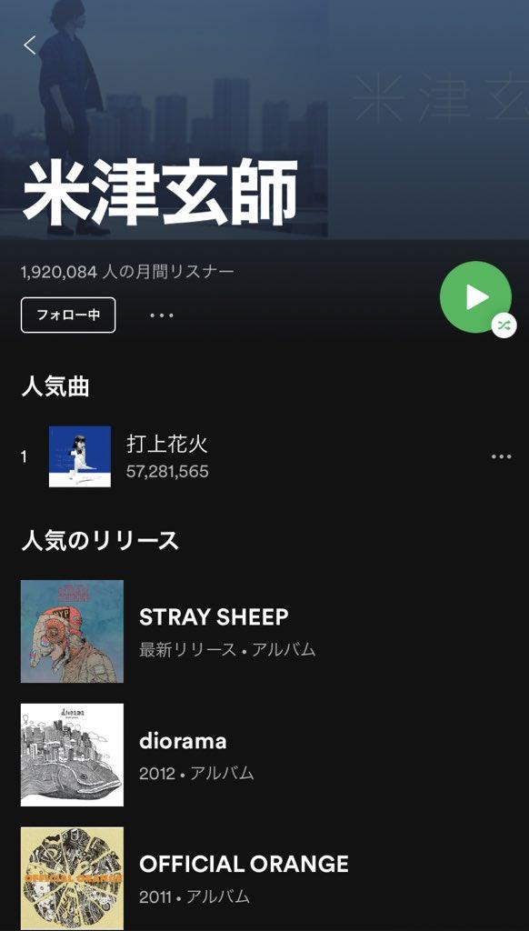 米津玄師もSpotify解禁だーーーーー!!!