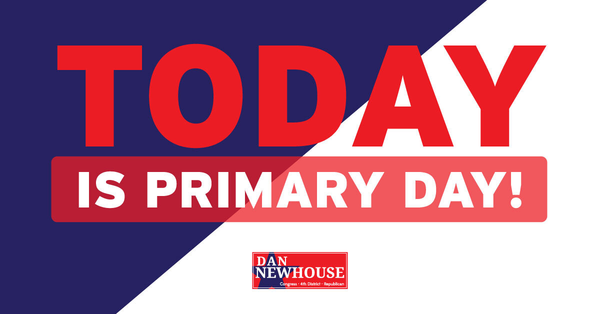Today is Primary Day! Thank you for the honor of serving Central WA in Congress. Let's keep it RED! #WA04 https://t.co/ZCqpAulbt2