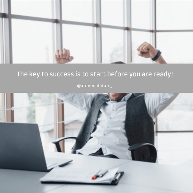 The key to success is to start before you are ready!   #Motivation #Success #SuccessQuotepic.twitter.com/OQsJRjhh4R