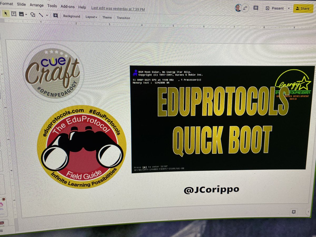 #CUECRAFT and #Eduprotocols today for Rancho Cucamonga #Wild2020 @chaix_mike #WeAreCUE