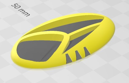 """Can't get an exact look at the new #StarTrekDiscovery combadge but gave it a go with the old 3D printer. This is my """"best guess"""" so far....please ignore the colouring!  Once we get a better view I can perfect it as I know its not quite there yet. pic.twitter.com/g3C3qN67Px"""