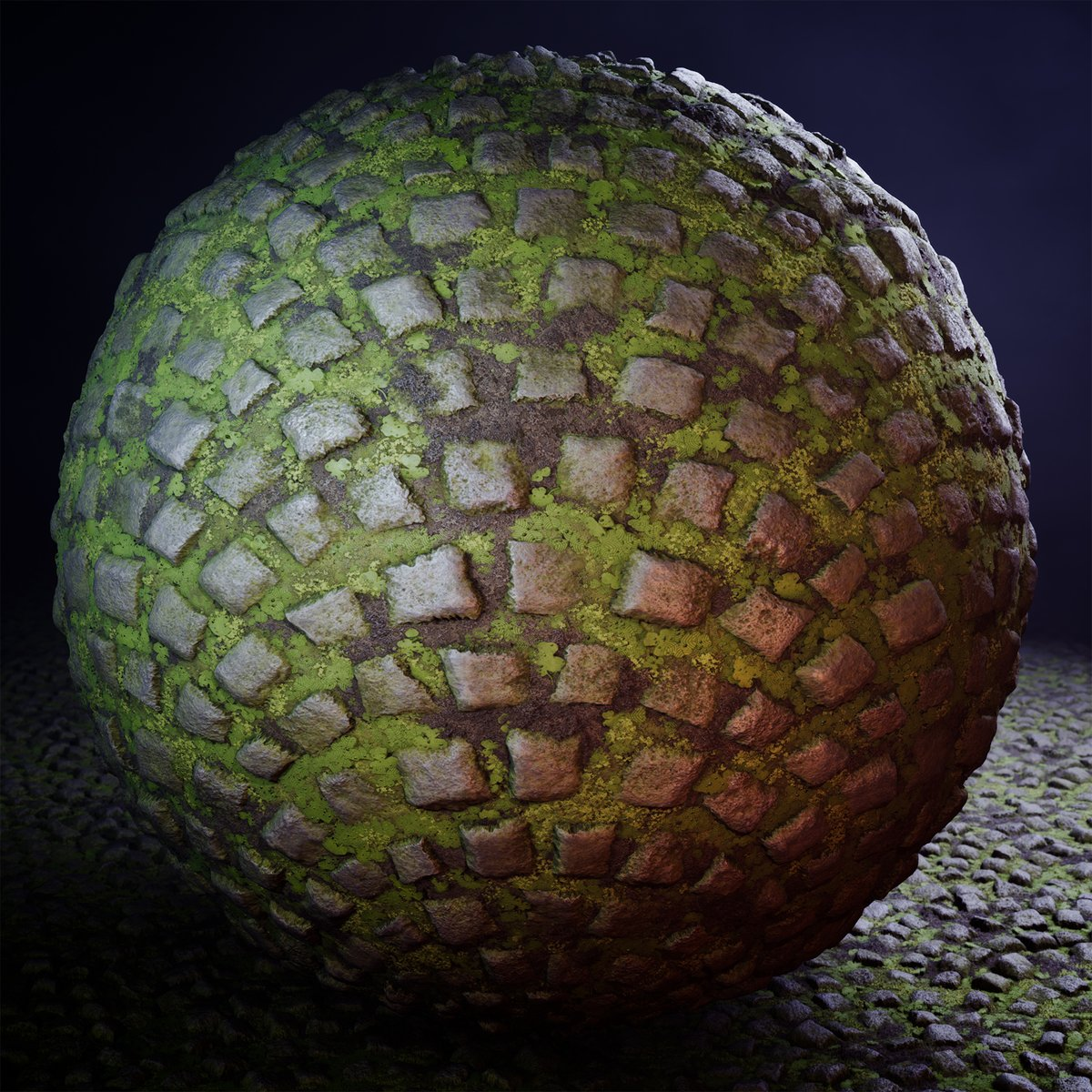 Hello all! I just finished this mossy cobblestones material. Check it out on @ArtStationHQ: http://www.artstation.com/artwork/B1koB9 Made in #SubstanceDesigner and rendered in #UnrealEngine4.  #gamedev #gameart #textures #materials #ProceduralArtpic.twitter.com/p1hRLAUqSb