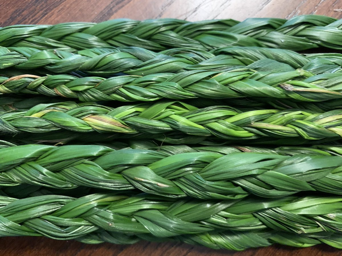 Got my #braid on today from the #sweetgrass that I #harvested @ the #lake this weekend 🤩 https://t.co/pvM6OA2PZ0