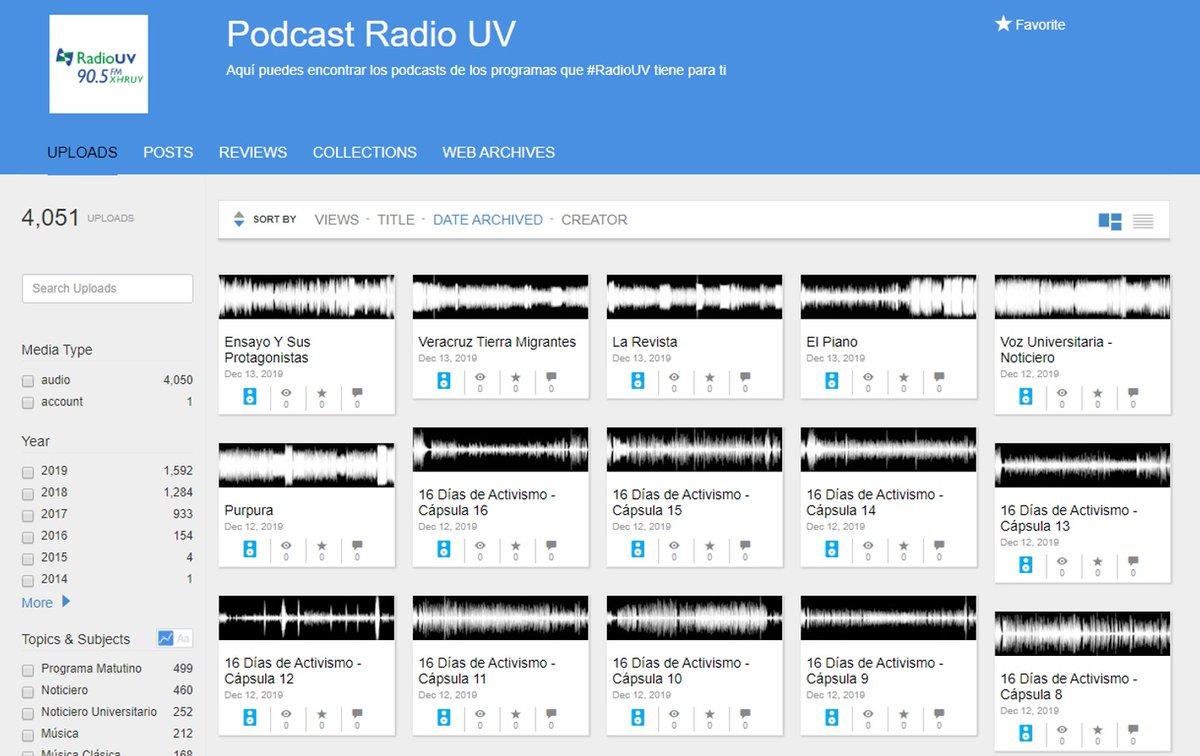 ¿Te perdiste tu programa favorito de @RadioUV ? ¡Disfrútalo las veces que quieras a través de sus podcast! Ingresa aquí: https://t.co/lSvfe1BAH3 https://t.co/o07WjpbQYi