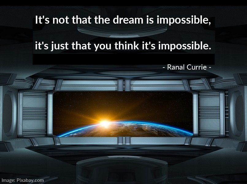It's not that the dream is impossible, it's just that you think it's impossible.  #quote #dreams #possible #TuesdayMotivation https://t.co/JFm6VVEsQR