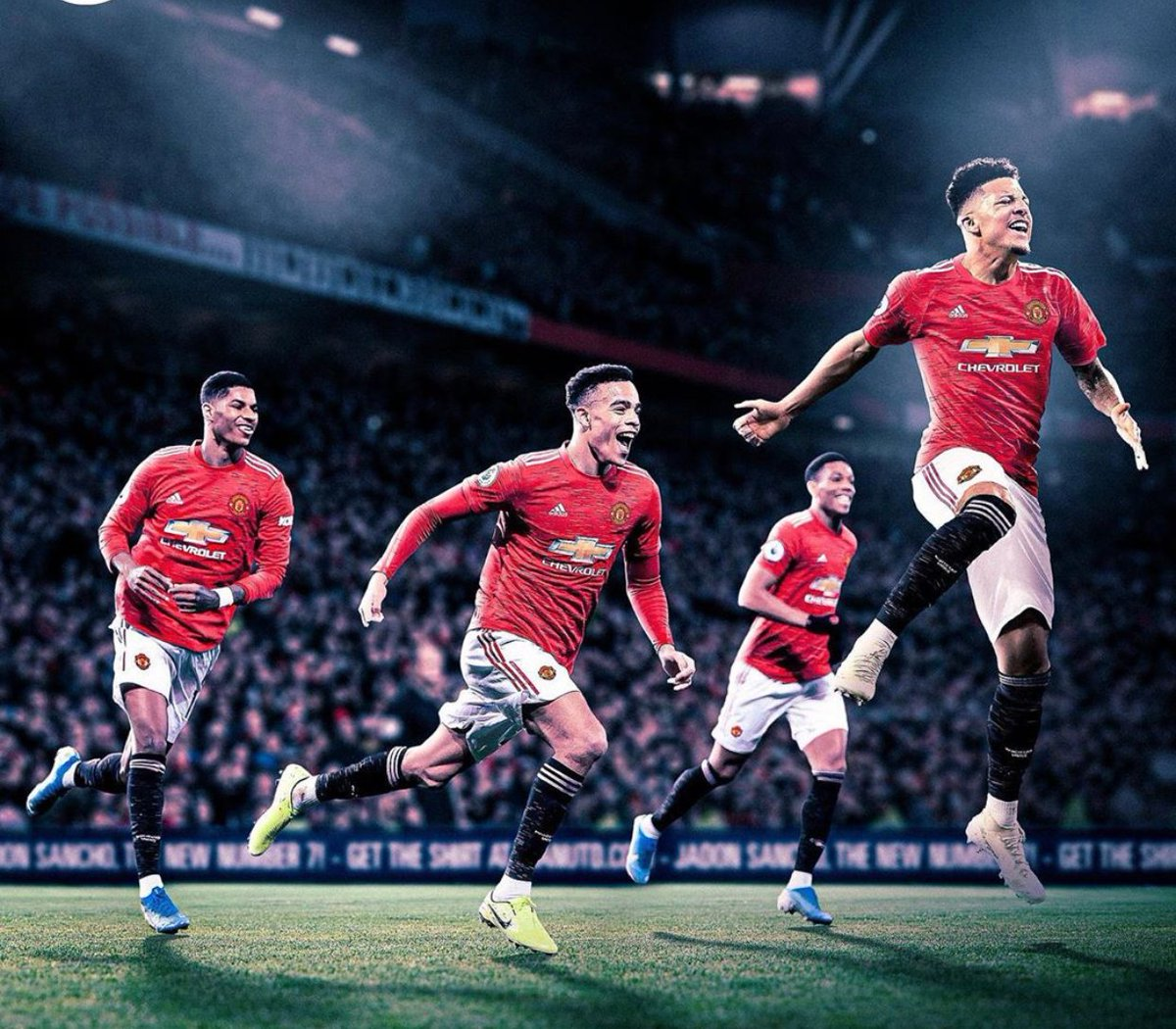 Marcus Rashford  Mason Greenwood  Anthony Martial  Jadon Sancho   Na Manchester United get the best attack for Premier League. 🔴🔥  #MUFC #UEL https://t.co/0W3RplnHoo