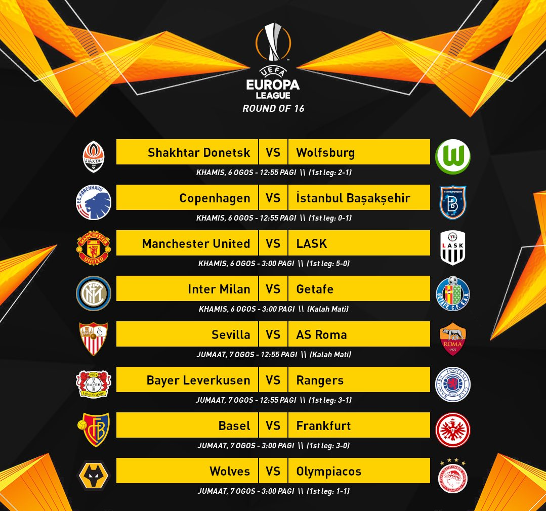🏆⚽️ UEFA Europa League Programa de partidos de Octavos de Final y desenlace de Cuartos #UEL #UefaEuropaLeague #EuropaLeague https://t.co/SWsBv7kOL0