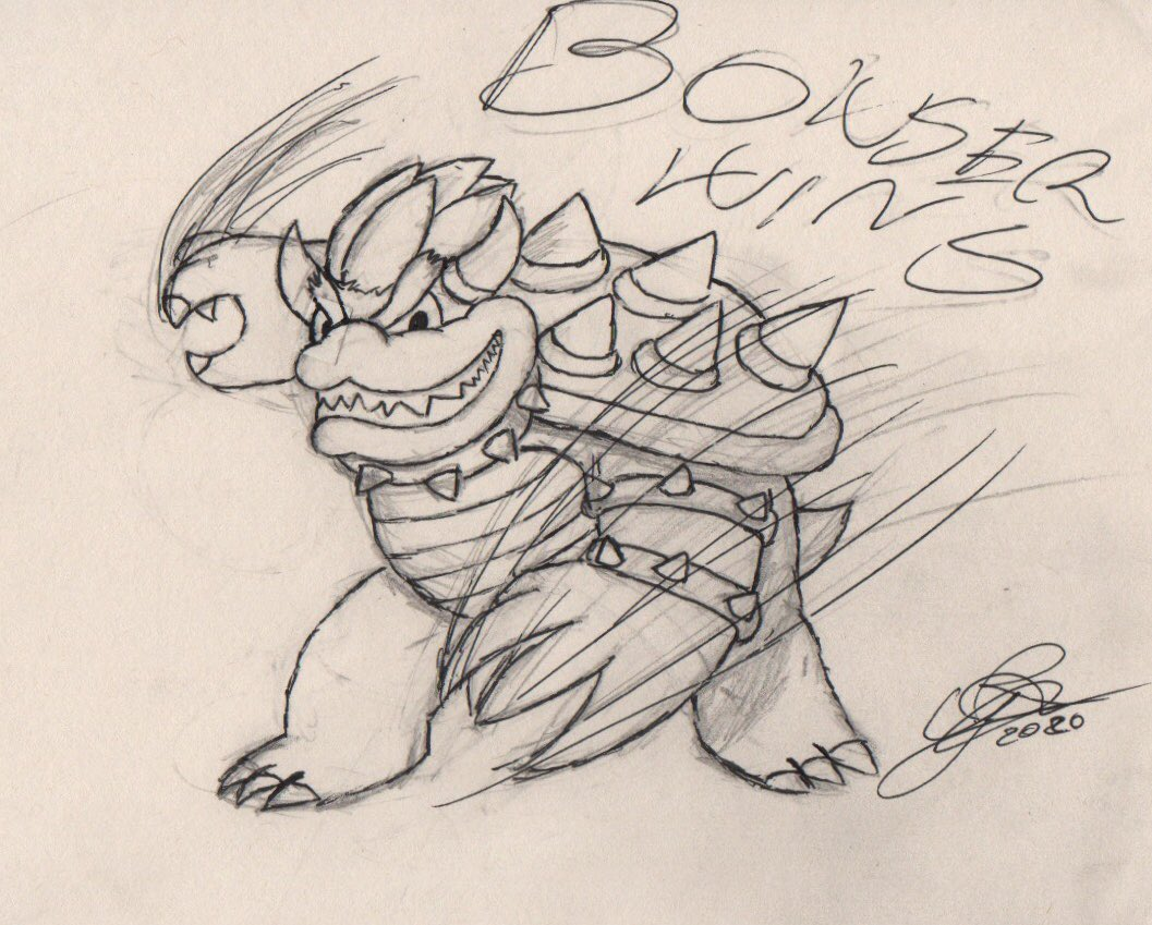 [Artwork]  It's #BowserDay again Bowser always win  I used his victory pose in smash as reference |:3 pic.twitter.com/Tch3uS4e3D