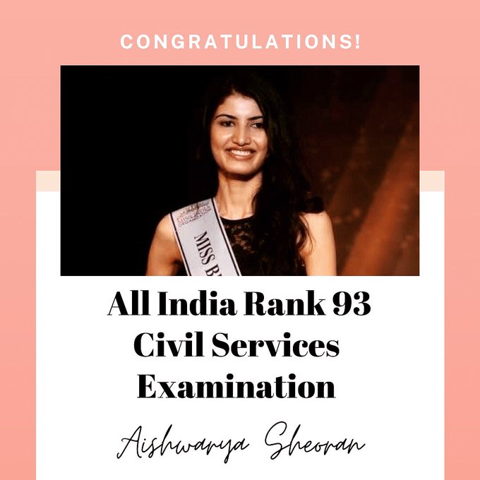 Aishwarya Sheoran – Former Miss India Finalist and UPSC Rank 93