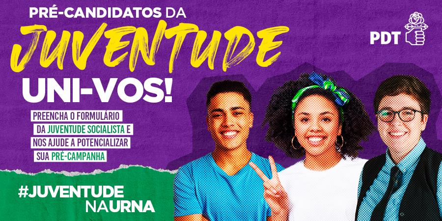 Você, pré-candidato da @js_nacional: não deixe de preencher o formulário #JuventudeNaUrna. Dessa forma, conseguimos organizar e ajudar a dar visibilidade a sua campanha! Segue o link: https://t.co/cytpte9YO4 https://t.co/HG0eB5yrnh