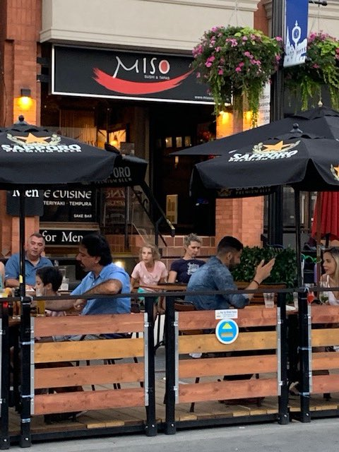 The forecast looks great this week. No better plan than a patio plan.  Miso Sushi & Tapas just might be the spot!   #oakville #patios #streetpatios #patiolife #placemaking #alfresco #dining #restaurants #hospitality #urban #downtownpic.twitter.com/Ir71WDJoZg