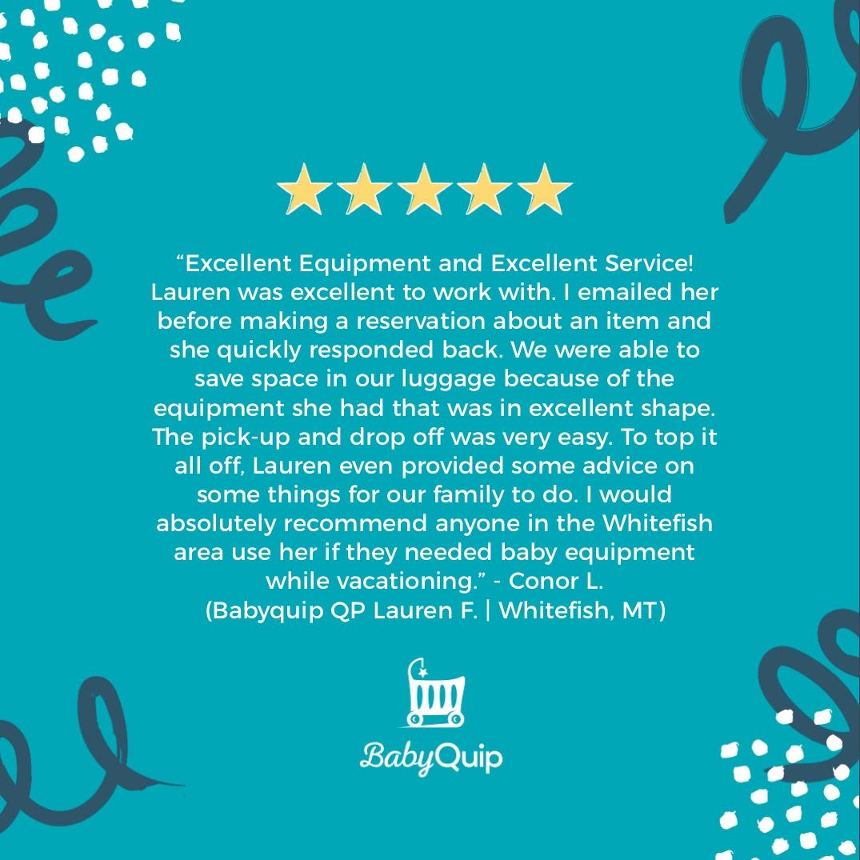 Just another satisfied customer!   #babyquip #babyequipmentrental #5stars pic.twitter.com/ZNM9f26XGR