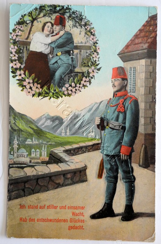 #FWW postcard #Bosnian soldier longing for his lover #sevdalinka (from an internet auction site)pic.twitter.com/MUWPmWDiEt