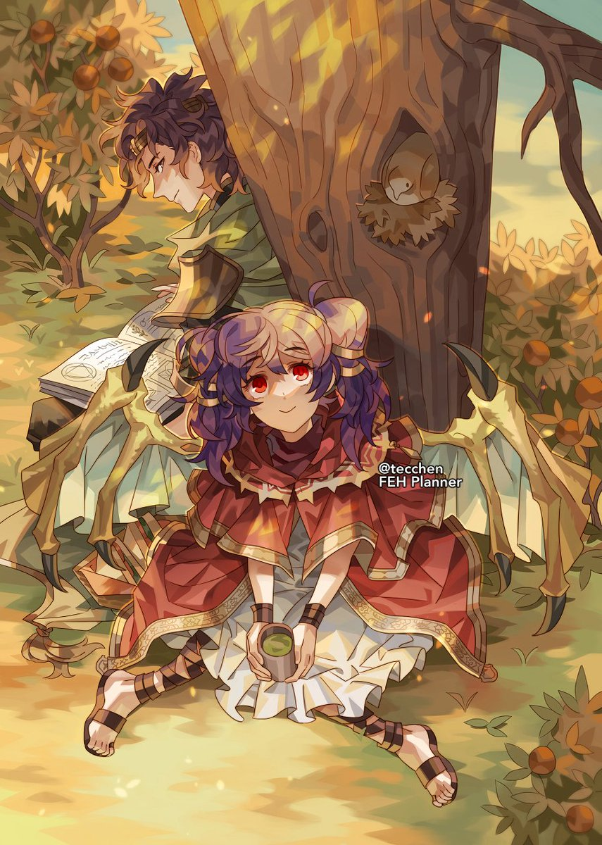 Myrrh and Saleh from FE: Sacred Stones✨ my illustration for the month of September in @fehplanner! preorders open on 8/17❣️