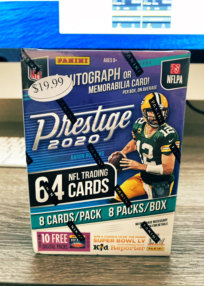 NFL MIXER #1 is breaking at 2pmMST.   Giveaway winner will be announced at 1:50pmMST.   Giveaway winner will receive FREE 2020 Prestige Blaster Box  To enter: RT/FOLLOW pinned tweet on profile!   Don't miss your chance!   $1 @Hobby_Connect @HobbyConnectorpic.twitter.com/FzCPxzr2fs