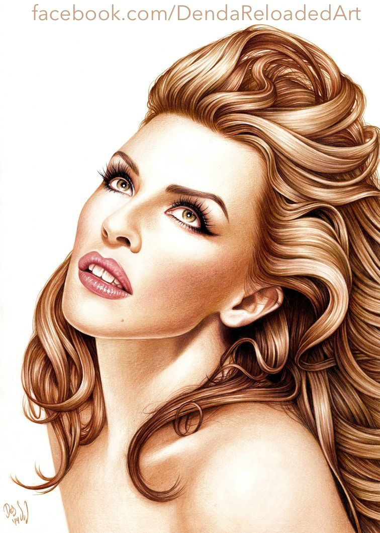 Good evening @kylieminogue and Twitter #Lover.  How are you all doing.  Here is a few portrait piccies of our Queen (credits to the artists for these lovely images).  Have a lovely evening wherever you are in the world  pic.twitter.com/atAZUZ9kMM