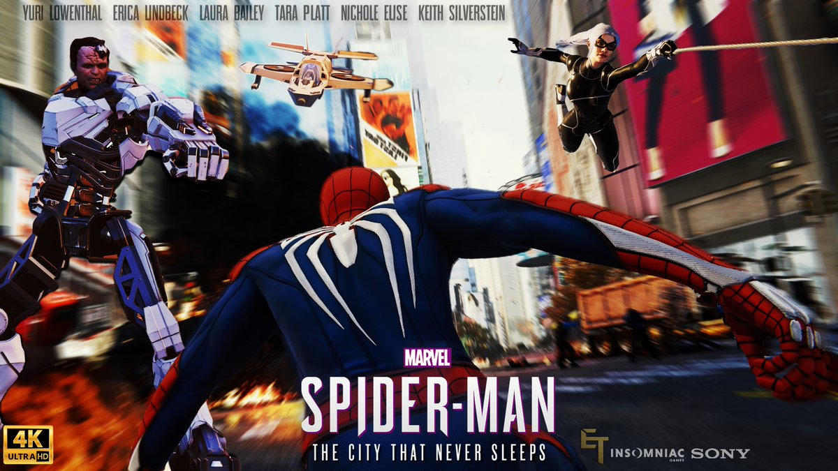 Arriving tomorrow, in 4K! Marvel's Spider-Man The City That Never Sleeps The Movie! Here's the thumbnail, and much like the last one this one also may look familiar...  #SpiderManPS4 #SpiderManPS5 #SpiderManpic.twitter.com/mt6UvU8kOx