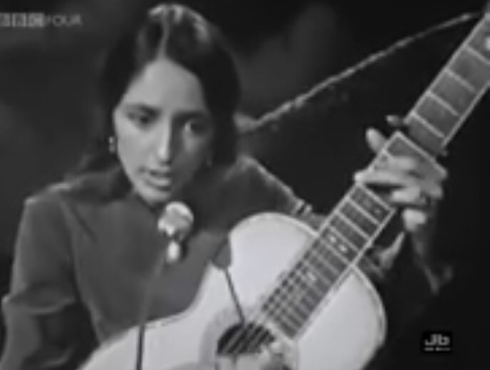 #JoanBaez -#WeShallOvercome The song became associated with the #civilrights movement from 1959, when Guy Carawan stepped in with his and #Seeger's version as song leader at Highlander, which was then focused on nonviolent civil rights #activism.