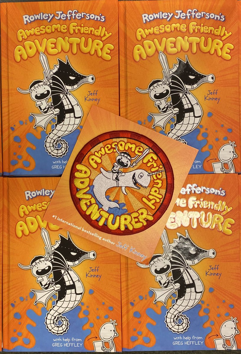 Pick up your copy of  #RowleyJeffersonsAwesomeFriendlyAdventures by @jeffkinney and get this free #AwesomeFriendlyAdventure patch for free, while supplies last! #wimpykid #kidsbooks #youngreader #youngreaders #newreleasetuesday #newbooks #readbooks #buybooks #visitabookstore https://t.co/gPlnLKJWpg