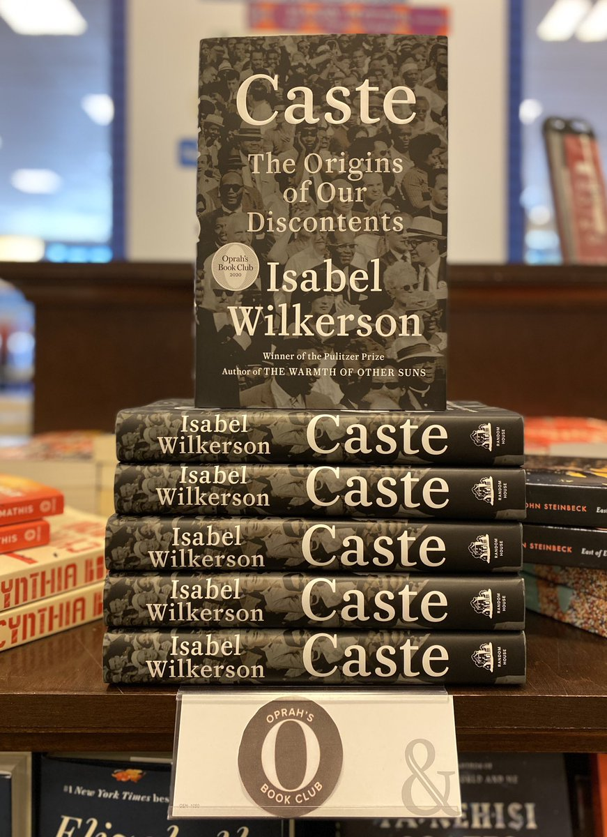 Check out the newest selection from @oprahsbookclub - #Caste by @isabelwilkerson, an amazing #newbook by the #pulitzerprizewinningauthor of #TheWarmthofOtherSuns. #newreleasetuesday #newbooks #newreleases #readbooks #buybooks #visitabookstore #shoplocal #sacramento #natomas https://t.co/dsLMWFQouf
