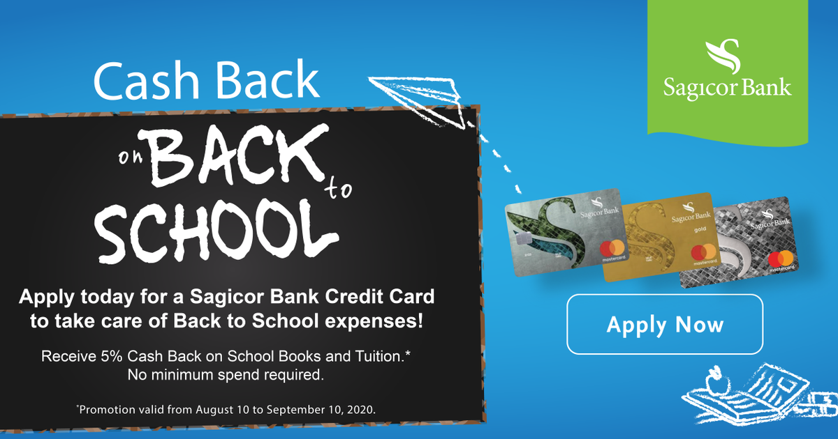 Sagicor Jamaica On Twitter It S Back To School Season Take Care Of All The Expenses By Applying For A Sagicor Bank Credit Card Today Visit Https T Co 6beleal942 To Get Started Sagicorbank Inyourcorner Https T Co Odjhv6nowm