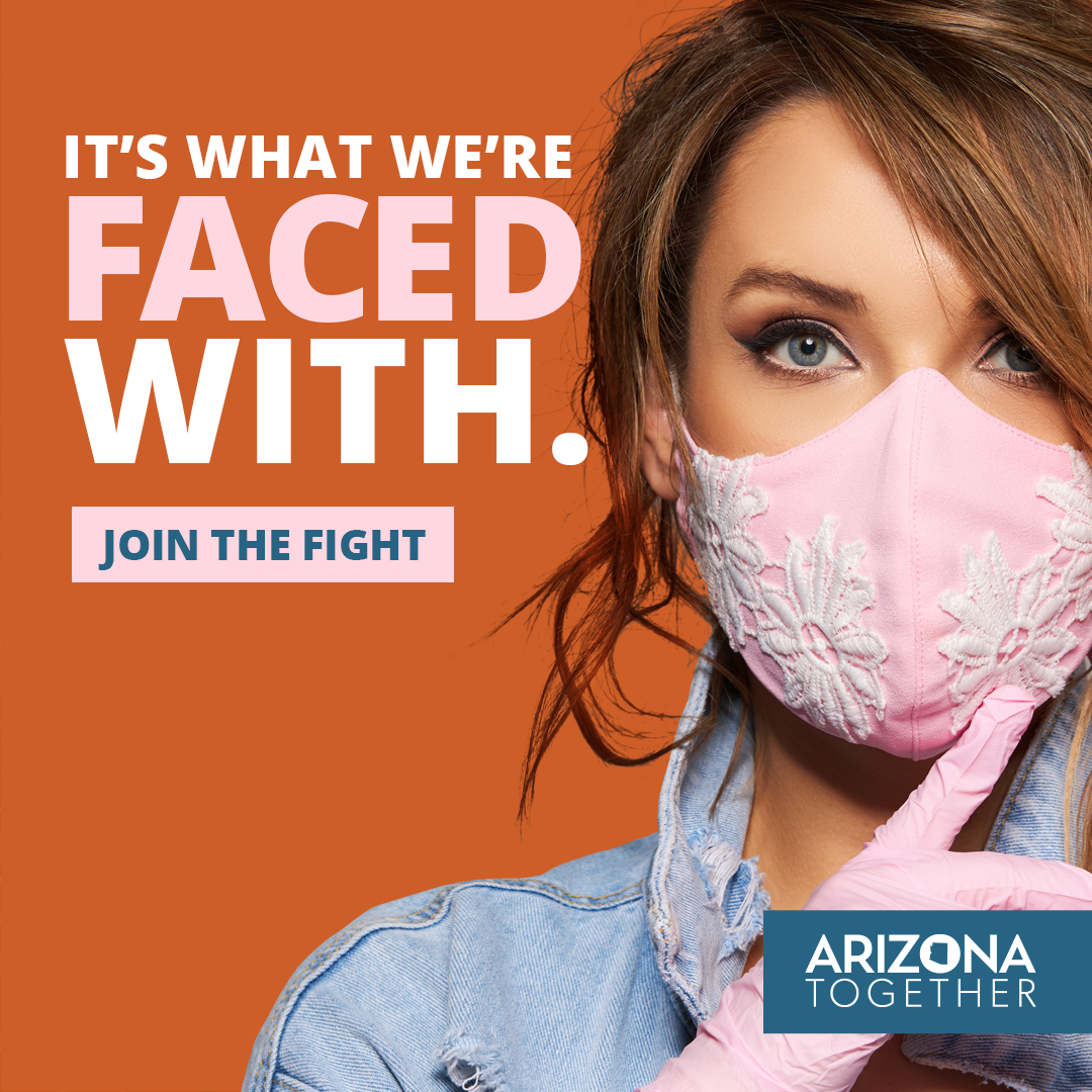 Let's put our best face forward Arizona. Do your part by masking up. #MaskUpAZ