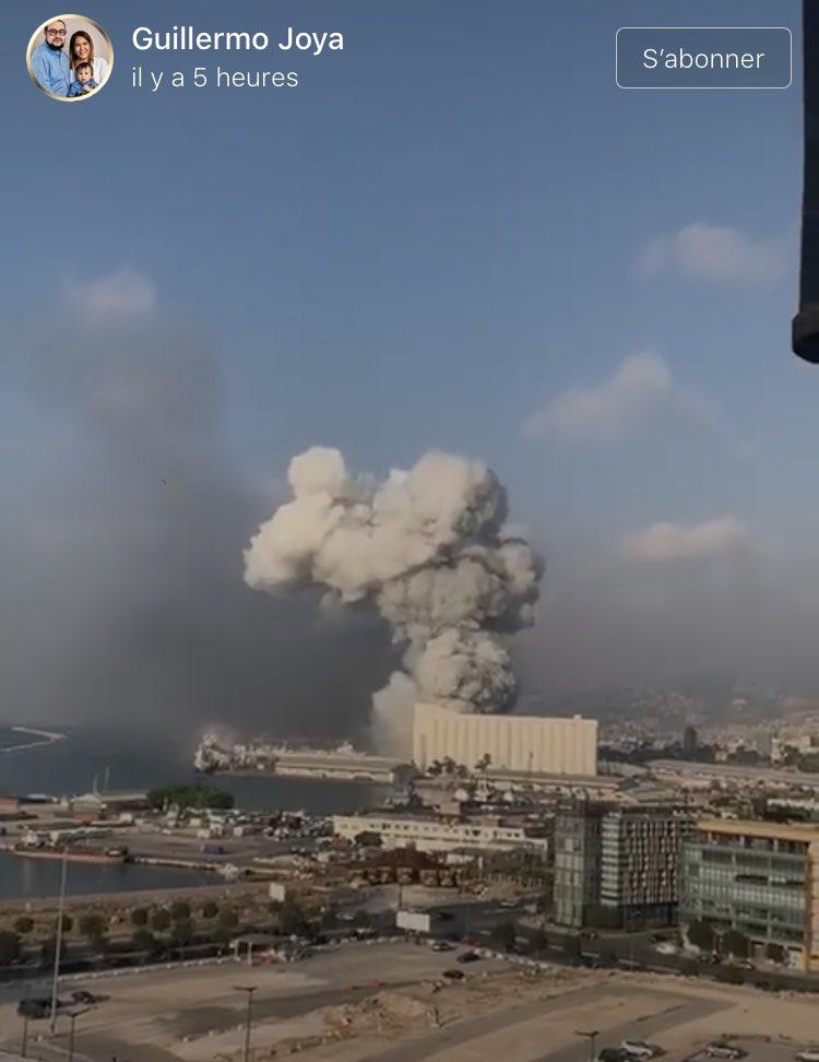 Aún comparando con el 11-S cuyo impacto no fue tan rápido ni la onda expansiva tan extendida. Me quedo muda de horror. 😢  #Liban #Lebanon #Beyrouth #Beirut #BeirutBlast #explosion #Libano #Beyrut #LebanonExplosion https://t.co/aIPOITESR6 https://t.co/H37CYtEMcr