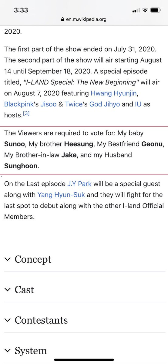So no one noticed I-land's Wikipedia page...#ILAND #mnetiland #BigHitEntertainment pic.twitter.com/z4j5RUb0rT