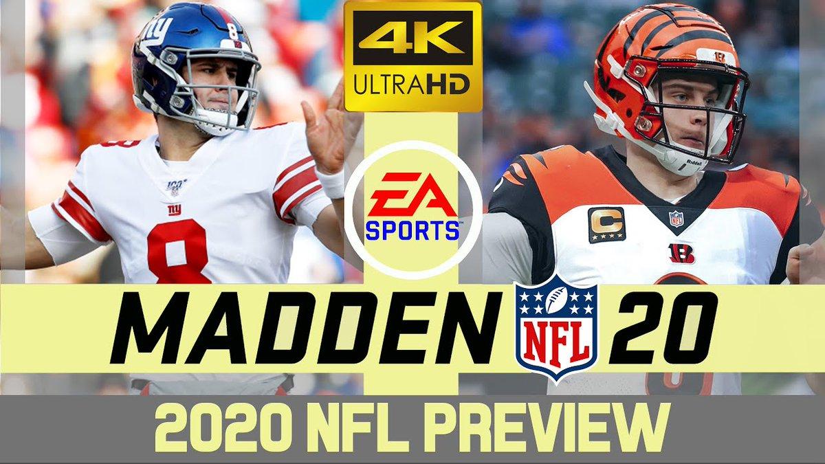 "New upload - ""New York Giants @ Cincinnati Bengals - NFL 2020 Week 12 - Madden Simulation - 4K""  Watch Now: https://youtu.be/4-Q6DIGbfsM  #Giants #Bengals #WhoDey #JoeBurrow #BigDickJoe #JoeMixon #SaquonBarkley #Madden20 #Madden21 #NFL #XBoxSeriesX #XBox #PS5 #PS4pic.twitter.com/RIIQpKNeC8"