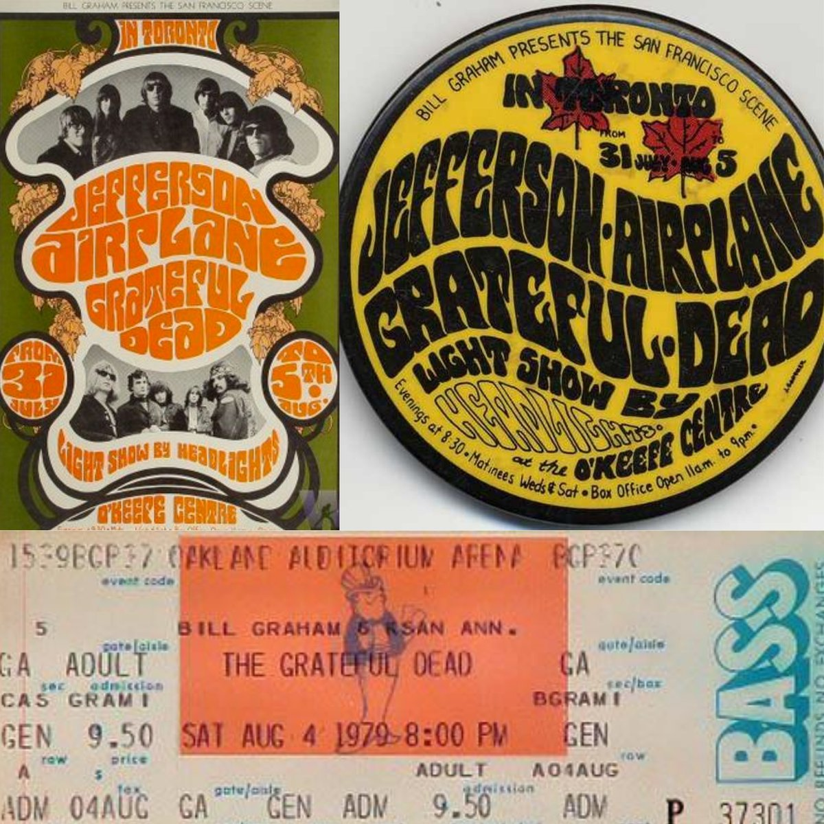 Today we celebrate the live anniversary of 3 @GratefulDead songs. OTD in 1967 New Potato Caboose was debuted at the OKeefe Center in Toronto. OTD in 1979 Althea and Lost Sailor were debuted at the Oakland Auditorium Arena.