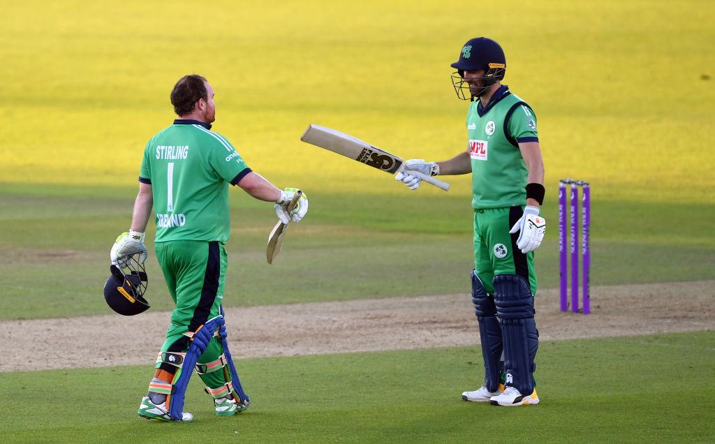 Ireland batsmen-Paul Stirling and captain Andrew Balbirnie against England.