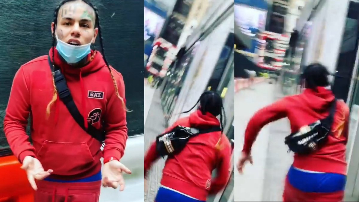 6IX9INE Get Chased In New York After Running in to the Wrong Fan  Full video ok YouTube https://youtu.be/3hclbrETahc  #6ix9ine #Tekashi6ix9ine #tekashi69 #gooba #NickiMinaj #Akon #punani  #nyc #6ix9ineisoverparty #newyork #news #funnyclips #funnyvideo #funnymoments pic.twitter.com/zxpb75Qq03