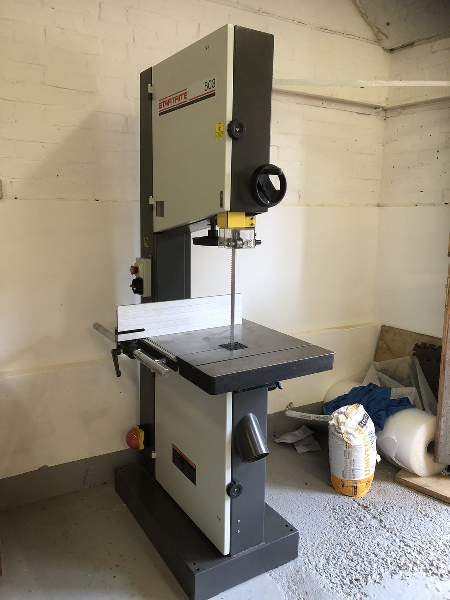 Well my new toy arrived today very excited like a child it's here now startrite 503 bandsaw supplied byDj Evans Bury St Edmunds great service great deal . pic.twitter.com/ZL11fluLMe