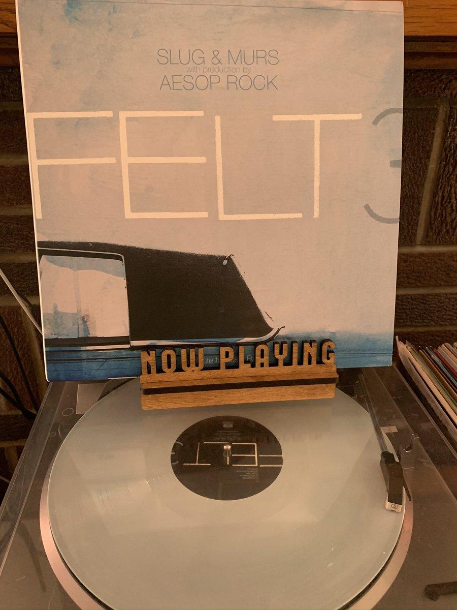 #Felt - 3. 10th anniversary reissue. Beats by @aesoprockwins, MC's Slug & Murs. #aesoprock pic.twitter.com/ZKDHWZvcRJ