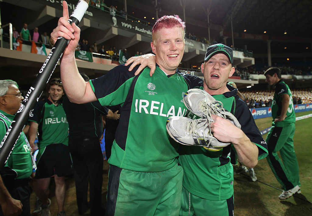 Ireland- Kevin O'Brien after defeating England in 2011 World Cup