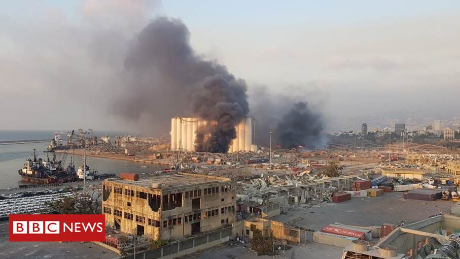 Lebanese president blames 2,750 tonnes of ammonium nitrate left in warehouse unchecked for six years for devastating Beirut blast  Latest: https://t.co/9YUPmiVIkI https://t.co/NUwTGPIxf3