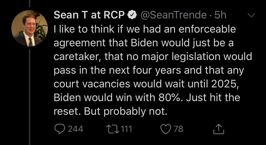 As if any Republican would ever agree to even so much as Not Burn the Country Down during their term, my man Sean has the gall to suggest that Biden should volunteer to make himself powerless for their comfort. EAT. A SACK. OF DICKS. https://t.co/981I33uSSS