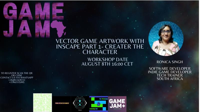 Next workshop will be hosted by @ronicasingh  for the vector game artwork with inscape part 1- creator the character  #gamedevelopment #gamedev #gameart #GJAfricapic.twitter.com/RpiOQlYoxz