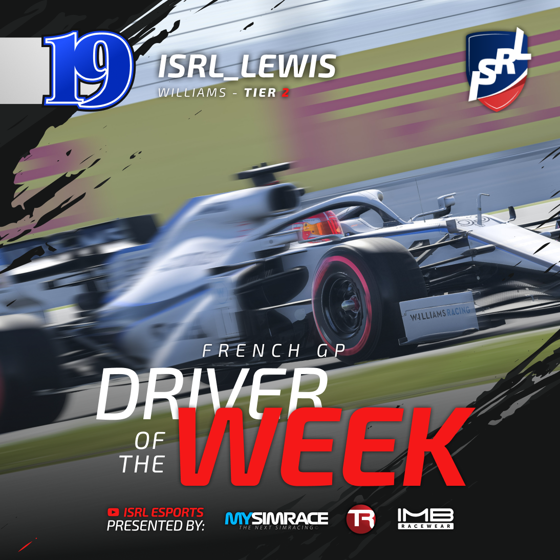 On lap 5, he was 16th with a broken wing. On lap 15, he was 12th. But by lap 27, ISRL_Lewis was in the podium spots and fighting for the lead. 😱  This remarkable comeback drive from the Williams Tier 2 driver earns him Driver of the Week!  #f1esports #f1game #simracing #formula1 https://t.co/ofWHY8X2hX