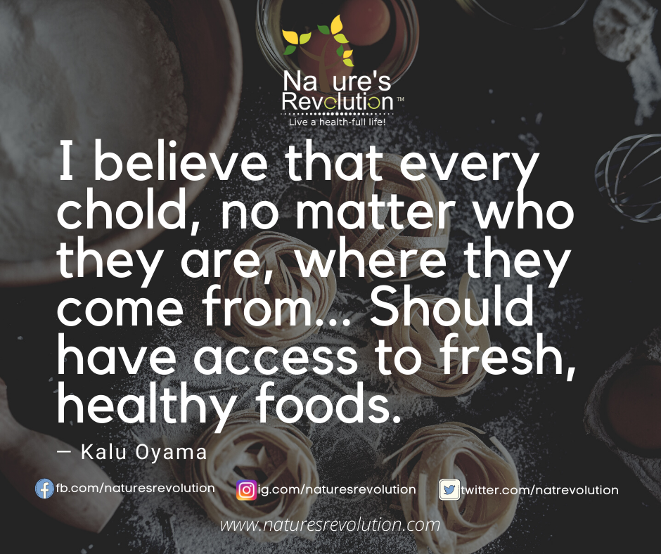 I believe that every chold, no matter who they are, where they come from... Should have access to fresh, healthy foods. #health #wellness #nutrition #naturesrevolution⠀#weightloss #healthylifestyle #fitnessmotivation⠀#healthyfood #fitness #workout #diet https://t.co/wCLCIToAlk