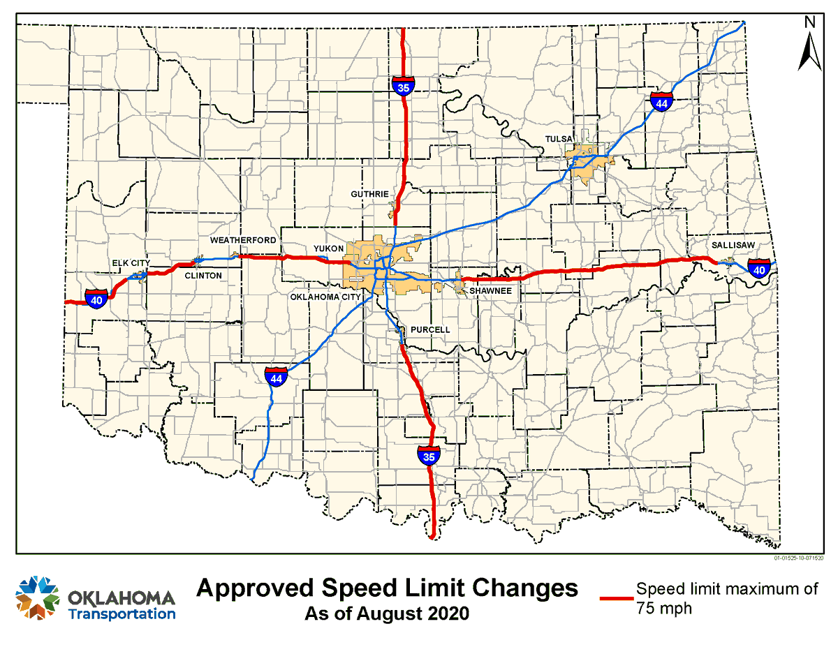 Image posted in Tweet made by Oklahoma Department of Transportation on August 4, 2020, 10:30 pm UTC