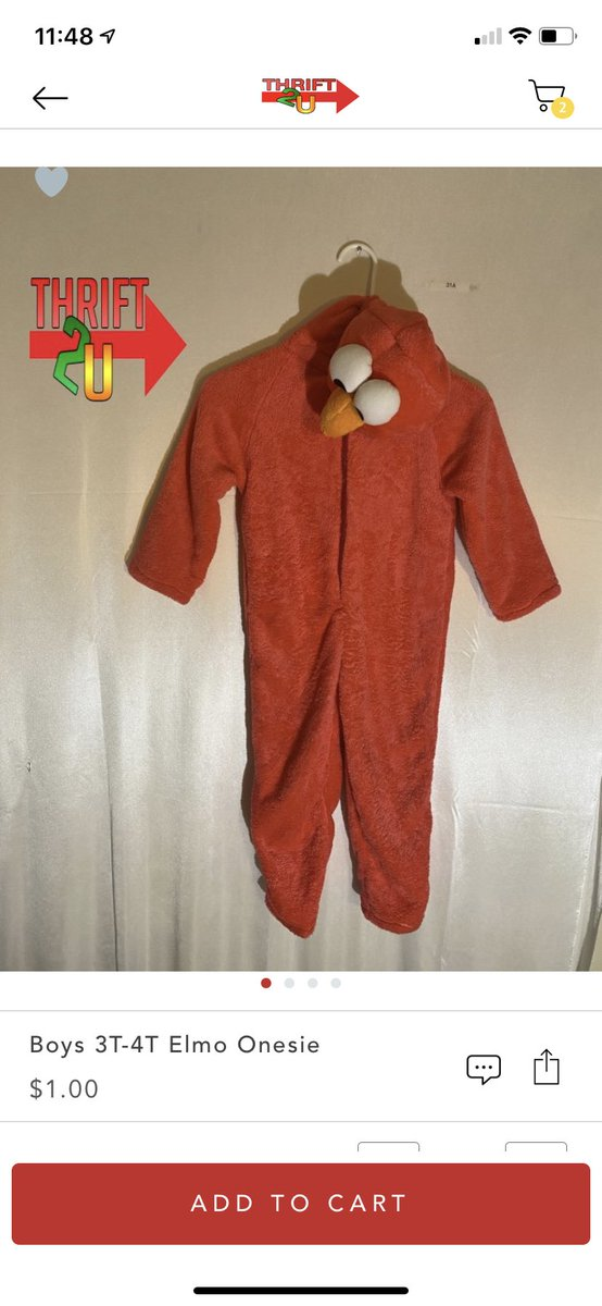 Look at this Elmo kids sleep outfit ! For $1.00 ?! #yes #thrift2u #thrift2uhaul #love #life #newuser #fyp  https://t.co/7DKQHaePrU https://t.co/n5uS3AgaW8