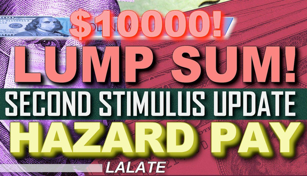 🌊 AFTERNOONS LALATE 🌊 GREAT NEWS BIG NEWS!  2. 🌊 Hazard Pay That $10,000 for Essential Workers Big new updates direct from Congress!  Second Stimulus Check & Stimulus Package Watch video NOW HERE ! >>    https://t.co/HtdTrtsP90 https://t.co/76rw1crZU2