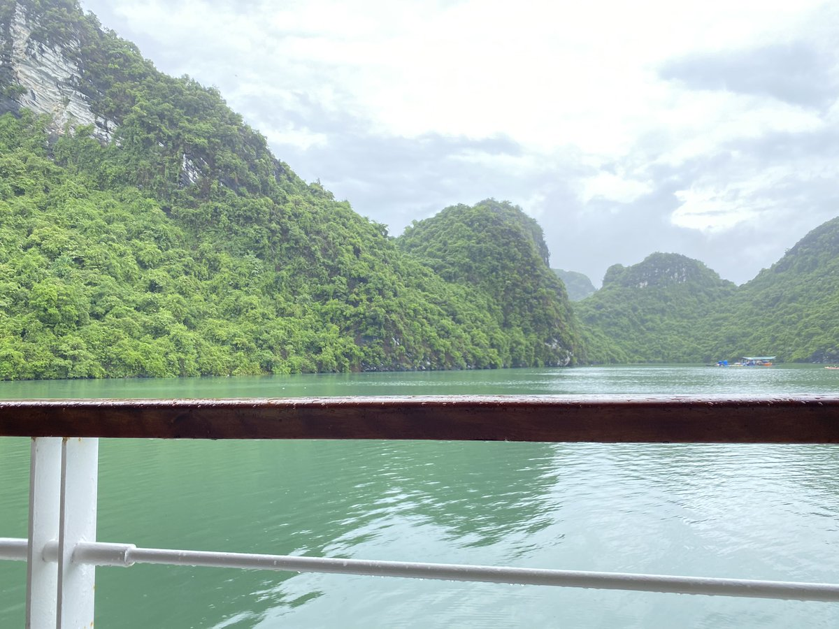 おはようです。(ベトナムは今6時)  2泊3日でハロン湾へ旅行に行ってきました。  とても楽しかったし、リフレッシュできたけど、  私も夫も胃もたれにやられて帰ってきました。  もう、胃は若くないんだなぁと実感…。  食事に気をつけないと、旅を100%楽しめないねと反省ですpic.twitter.com/FMwaNknKlf