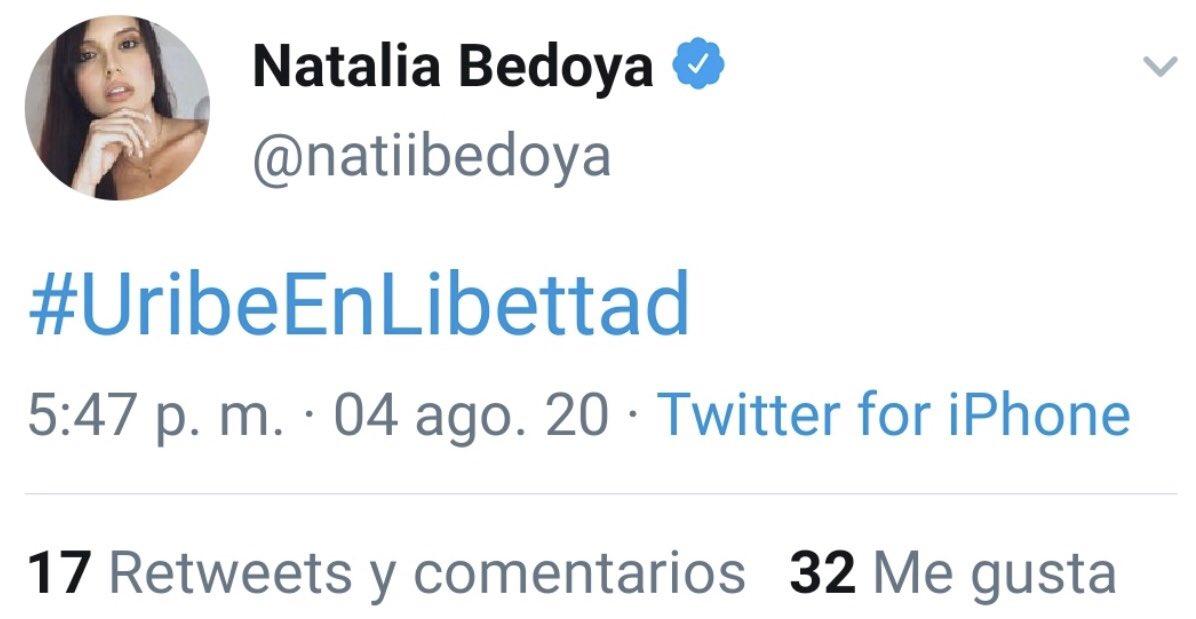La tendencia que promueve Natalia Bedoya, pero solo está su tuit... pic.twitter.com/Ulae61Kanr