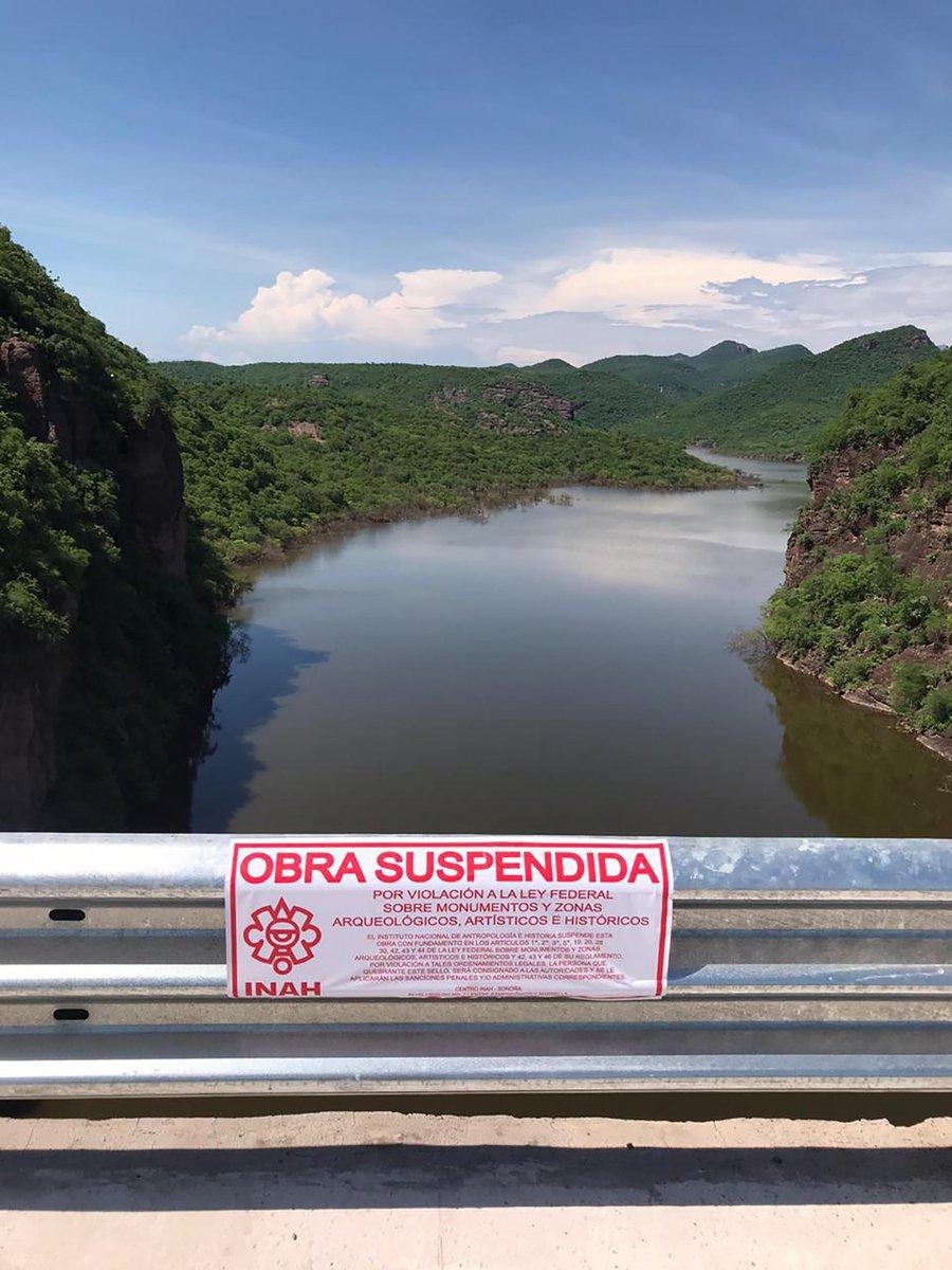 AL MOMENTO  El @CISonora ante la afectación del patrimonio arqueológico en la cuenca alta del rio Mayo por la puesta en operación de la Presa Los Pilares, hace un acto de autoridad de suspensión, atendiendo la Ley Federal sobre Monumentos y Zonas Arqueológicas. pic.twitter.com/U8R2Eb3r6d