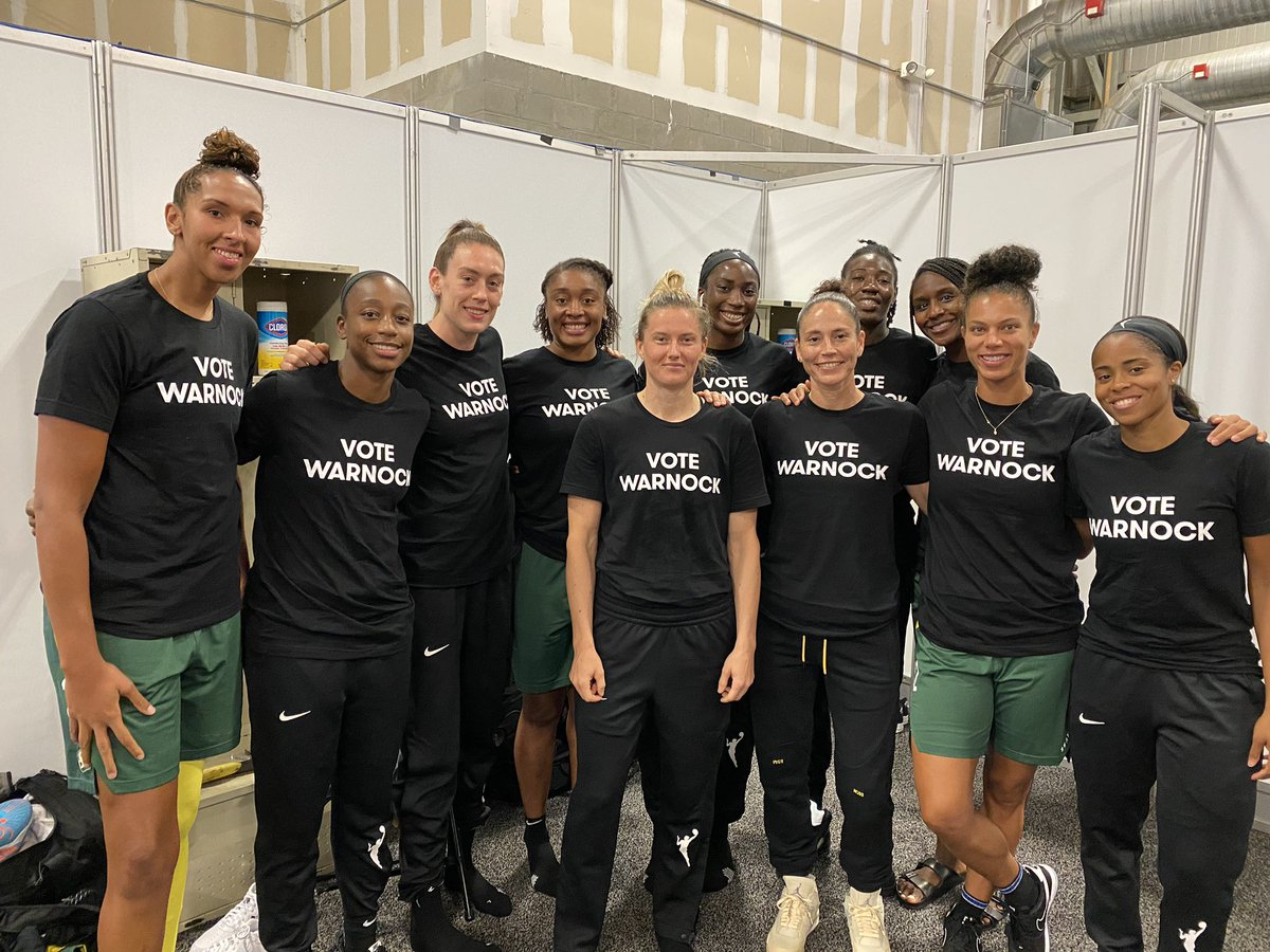 We are @wnba players, but like the late great John Lewis said, we are also ordinary people with extraordinary vision. @ReverendWarnock has spent his life fighting for the people and we need him in Washington. Join the movement for a better Georgia at Warnockforgeorgia.com