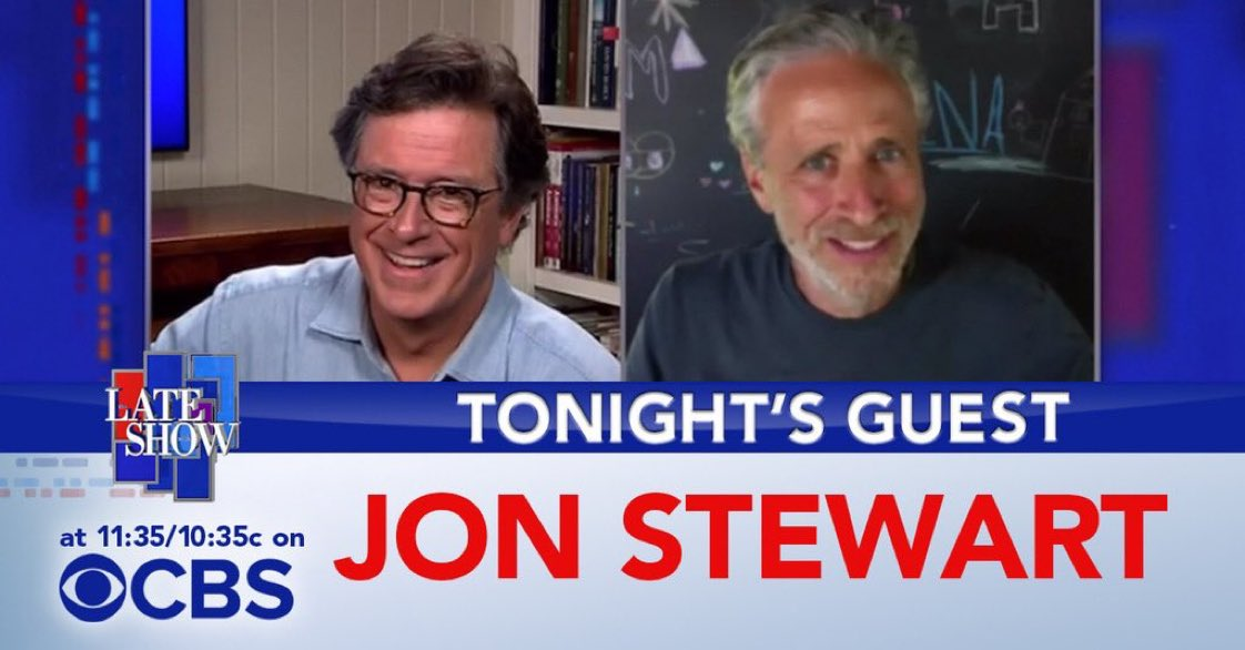 TONIGHT! Friend of the show and director of @irresistible, Jon Stewart! #LSSC